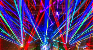 Lexington: concert with colorful lights