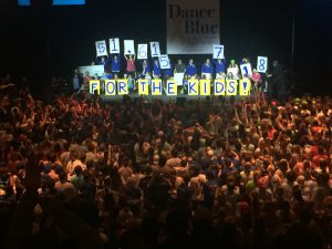 The final reveal of raised money at Dance Blue