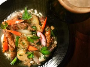 Dublin coddle stew in a bowl