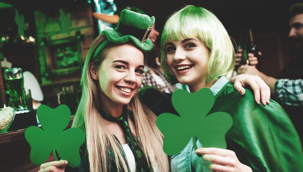 2 women on St. Patrick's Day