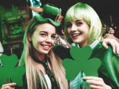 2 women on St. Patrick's day