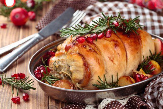 Turkey breast in dish