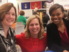 congresswoman angela evans with 2 other women