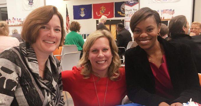 congresswoman angela evans with 2 other women