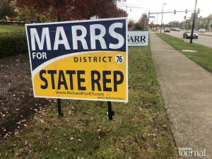 political sign that says marrs district state rep