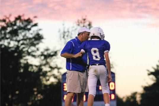 Doug Charles coaching a LCA player
