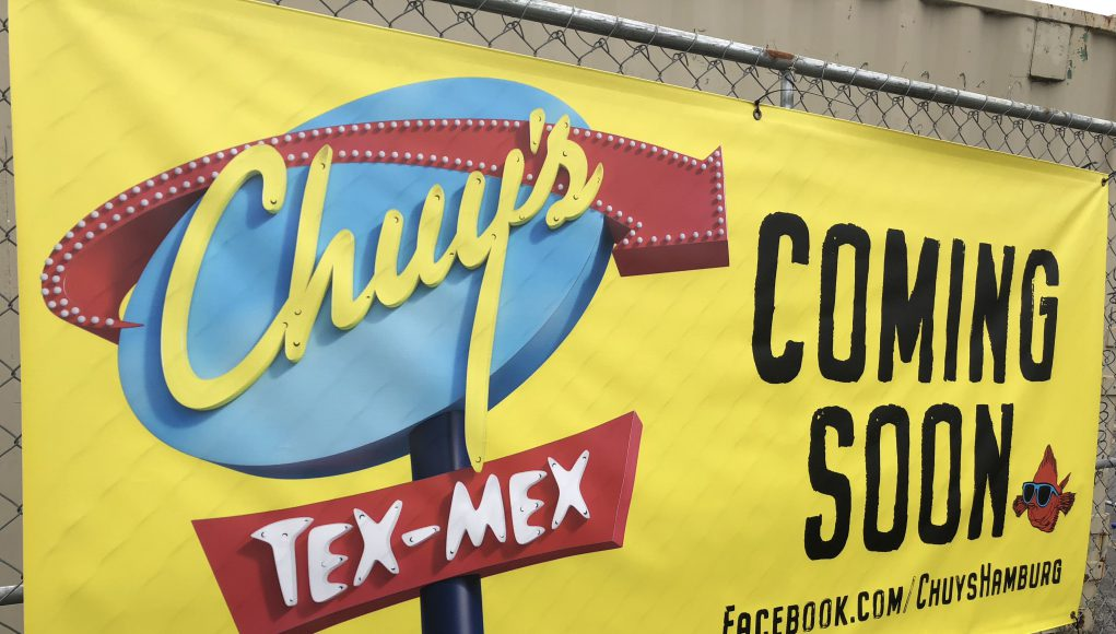 business: chuy's tex-mex sign that says coming soon
