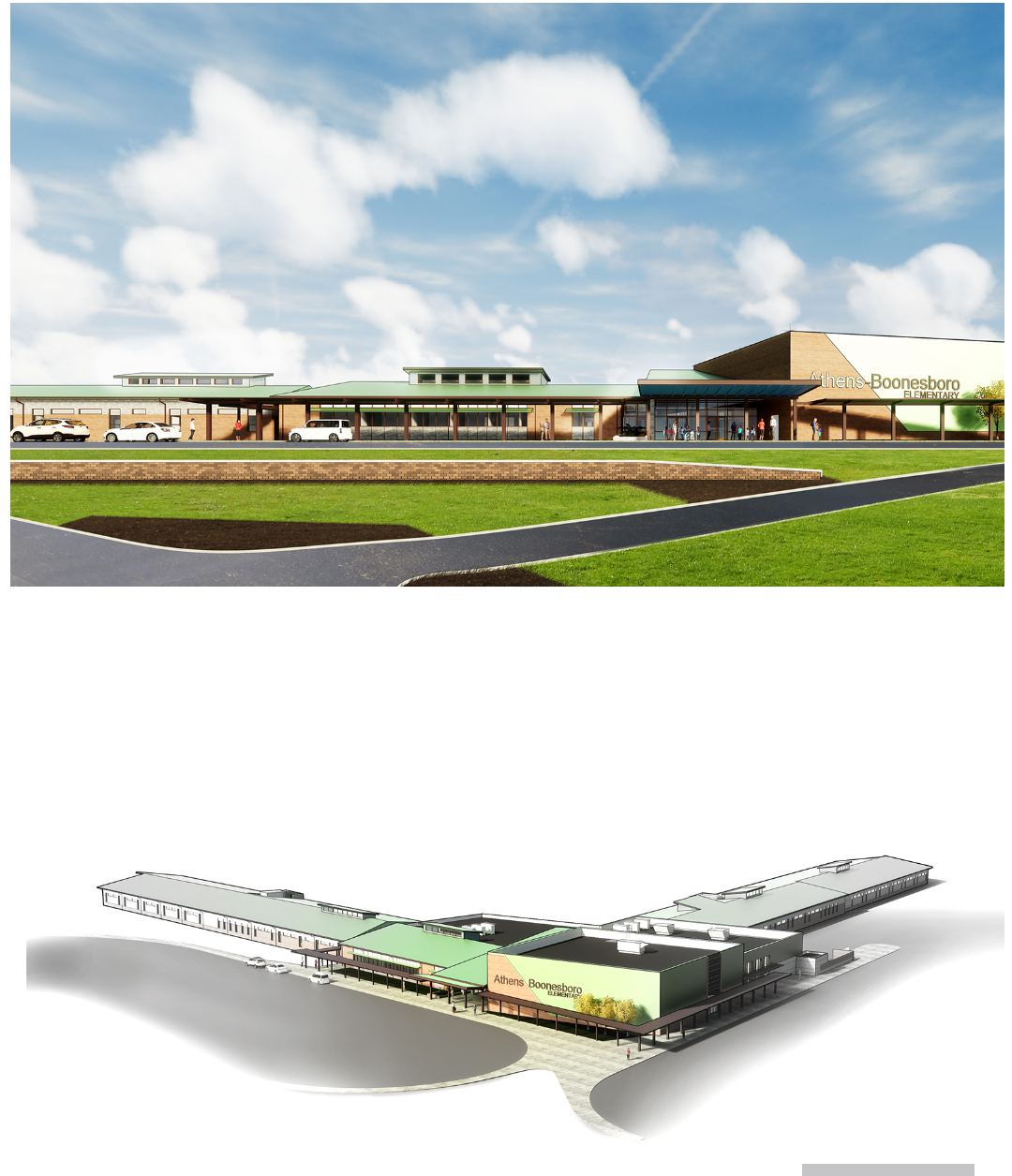 rendering of the new elementary school