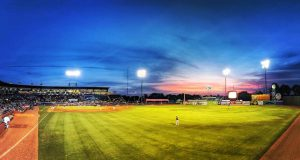 Lexington: night shot of a baseball field