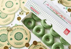 Krispy Kreme: green doughnuts