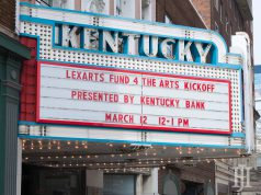LexArts: theater marquee with words