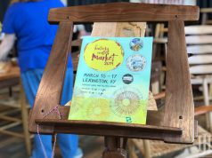 Home and Garden: program on a wooden stand