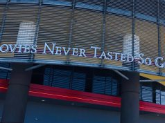 "Movie Tavern: ""movies never tasted so good"" on a theater"