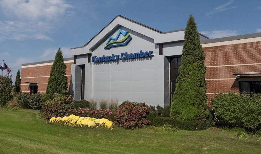 Kentucky Chamber: outside picture of a building that says Kentucky Chamber