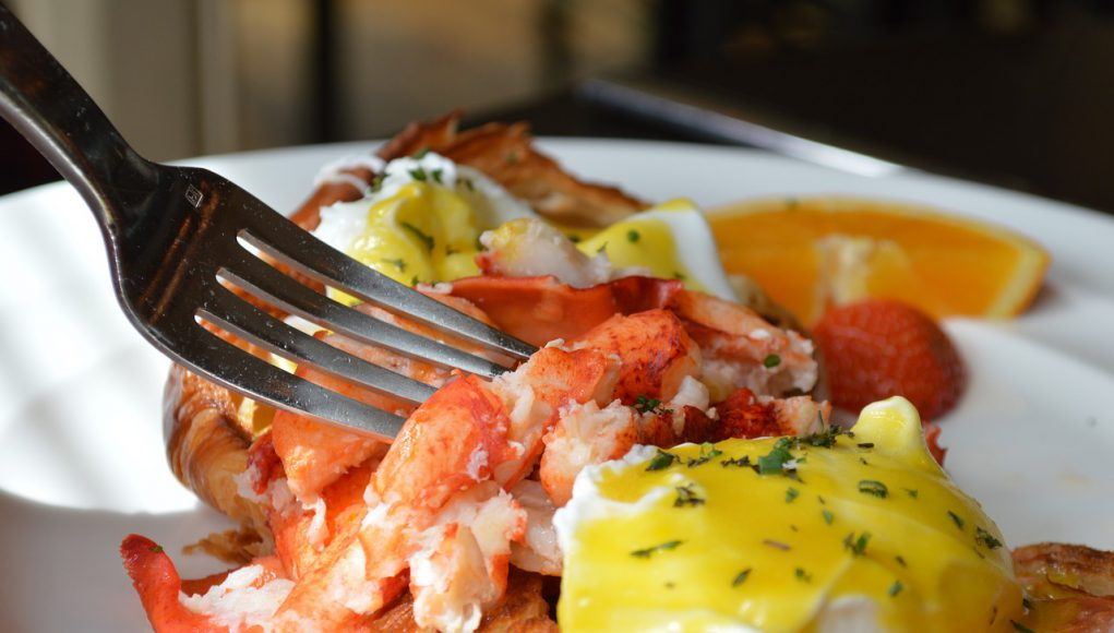 Brunch: lobster and eggs
