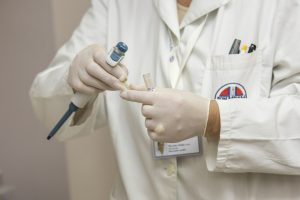 Gold Seal: doctor in a lab coat with doctor items