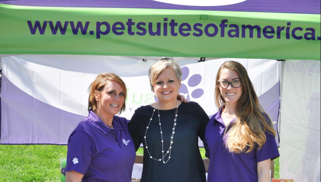 Pet: three women smiling at the camera