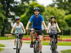 Bike: three kids riding bikes