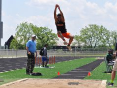 Parents: a student doing the long jump