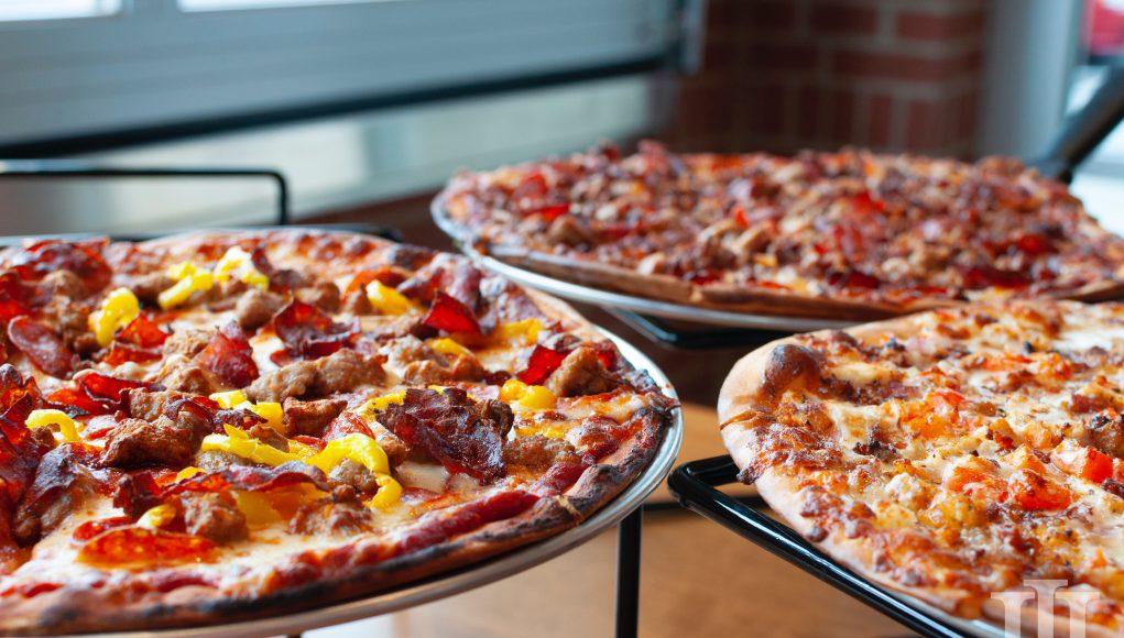 restaurants LaRosa's: pizza on a table