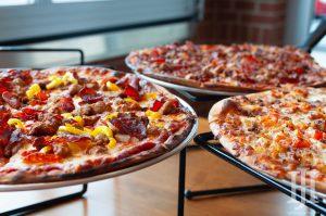LaRosa's: pizza on a table