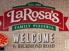 LaRosa's sign on a brick wall