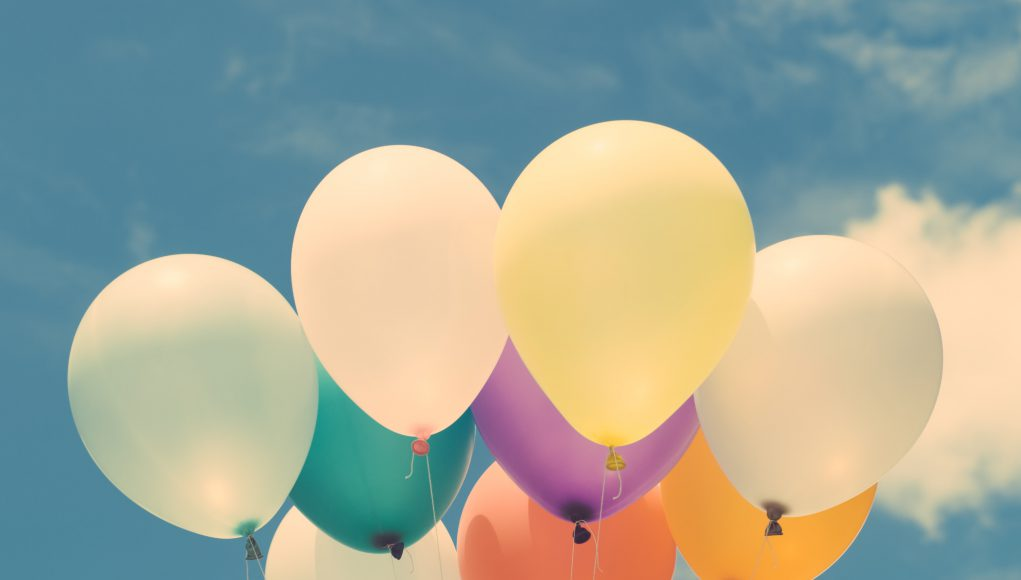 Nonprofit: balloons agains a blue sky