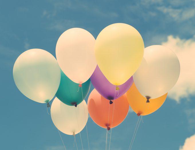 Nonprofit: balloons agains a blue sky