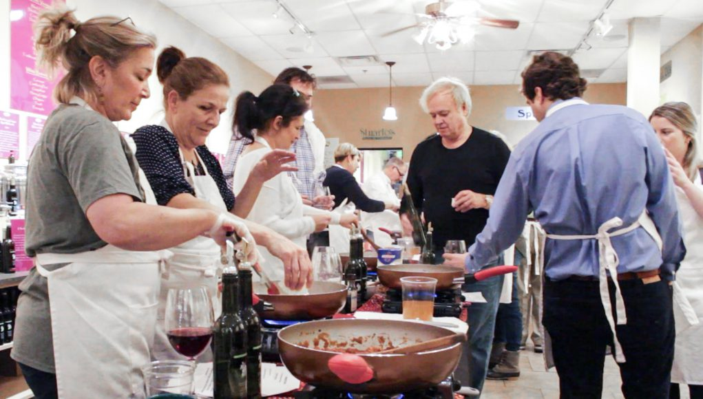 a cooking class