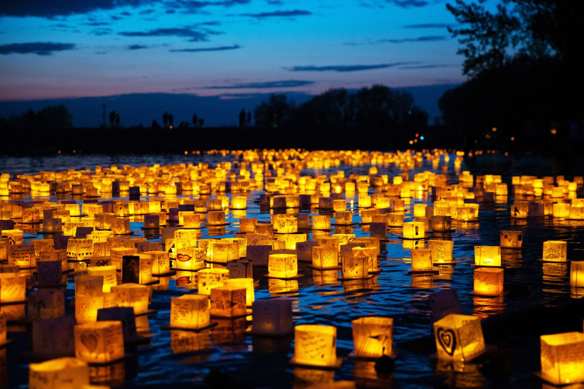 Lexington: lanterns in the water