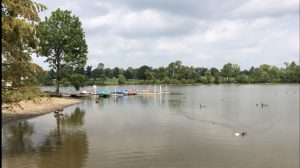 Jacobson Park: pond with paddle boats