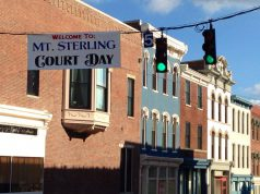 banner that says Mt. Sterling Court Days