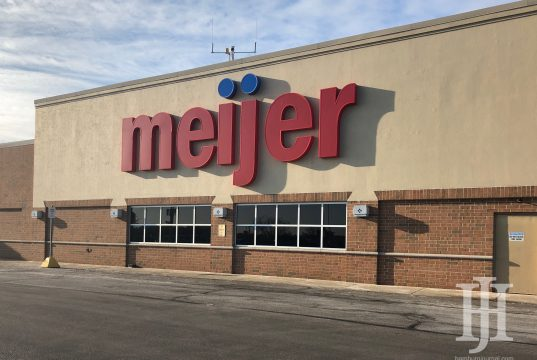 hamburg: beige building with meijer in red letters