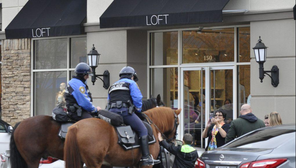 Neighborhood: police horse unit with civilians
